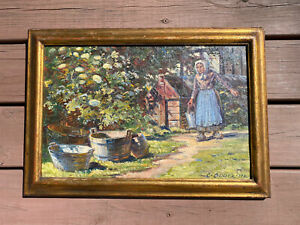 Carl Budtz Moller Danish Scene Painting dated 1932