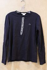 Lacoste Long Sleeve 3 button tee midnight/stone chine _________ R14C4