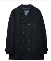 JACK WILLS Kilmaury Check Mac Jacket Navy Mens Size UK S *REF165