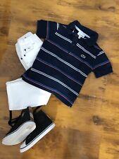 Orig. Lacoste Poloshirt Polohemd T Shirt Bluse Gr 4 Jahre 104 cm Kurzarm Blau