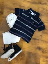 ORIG. Lacoste camiseta polo polo camisa t camisa blusa talla 4 años 104 cm de manga corta azul