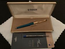 VINTAGE PARKER 51 / 61 BALLPOINT PEN TURQUOISE BOXED - MADE IN USA