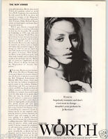 1972 PAPER AD Worth Perfume Paris Parfums Je Reviens