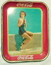 Original 1933 Coke Coca Cola Tray Frances Dee Paramount Player VG condition NR