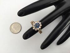 14K Yellow Gold 1.91 CTW Top Quality Sapphire & Diamonds Ring Sz 6, $6,580 Value