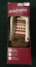 DEARFOAMS Women's Moccasin Slippers Chestnut Size XL 11-12 New In Box