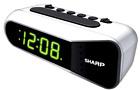 Sharp Digital Alarm Clock Electric w/ Battery Backup Dual Ascending Alarm SPC100