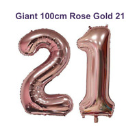 21st Birthday Party Giant Foil Balloons Decorations Rose Gold Large 100cm Huge
