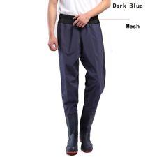 Donna PVC Vita Wader Stagno a Tenuta Impermeabile Pantaloni Uomo Outdoor Pesca