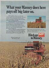 Original 1974 Massey Ferguson Combine Magazine Ad
