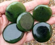 1 x Polished Nephrite Jade Crystal Palmstone. Ref:MQ3.NEJ Crystals