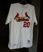 Home Lou Brock Authentic 1964 St. Louis Cardinals Mitchell & Ness Jersey Size 52
