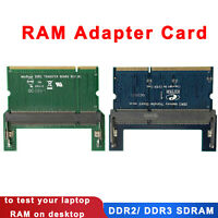 DDR2/DDR3 Laptop SO DIMM to Desktop DIMM Adapter Memory RAM Adapter Card