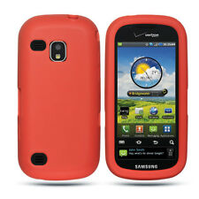 For Verizon Samsung Continuum i400 Silicone SOFT GEL SKIN Case Phone Cove Red