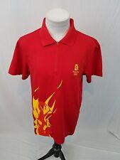 ADIDAS NWT Red 2008 Beijing Summer Olympics TORCH LOGO S/S Polo Shirt Womens XL