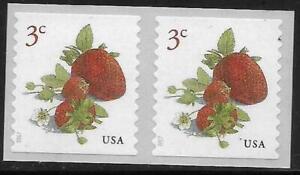 Scott 5201 US Stamp 2017 3c Strawberries MNH Coil Pair