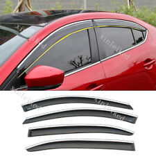 Window Door Visor Vent Sun Shade Rain Guard For Mazda 3 Axela 2014-2019 4pcs