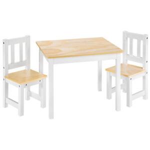 Kindersitzgruppe Kindertisch mit 2 Stühlen Kindermöbel Kindersitzgarnitur Holz