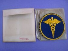 Original WWII US Mirror.. ' MEDICAL '.. Patch..NOS..Orig. package..# P-1