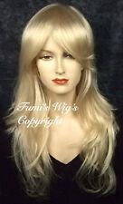 Silky Long Layered Semi Wavy Blonde Wig from Fumi Wigs