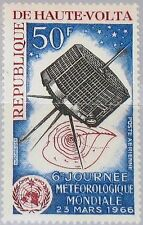 Upper Volta Upper Volta 1966 181 c28 6th METEOROLOGICAL DAY Satellite Weather Map