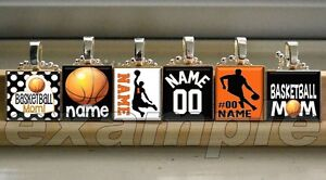 BASKETBALL Personalized Team Jersey # Scrabble Necklace Pendant Charm Key-chain