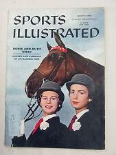 SPORTS ILLUSTRATED 1956 AUGUST 27 DORIS RUTH GISSY HORSE CARNIVAL FAIR ILLINOIS