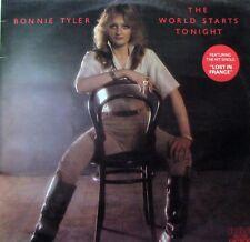 BONNIE TYLER The World Starts Tonight LP