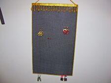 Hanging Earring Holder Organizer AMBER beads on BLACK Larger