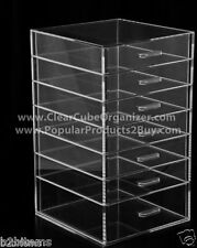 Acrylic Lucite Clear Cube Makeup Organizer The Kardashians Display 7 pull out dr