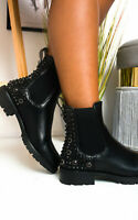 IKRUSH Womens Kyle Embellished Ankle Boots