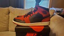"Jordan 1 ""Black leather,  Red Suede"""
