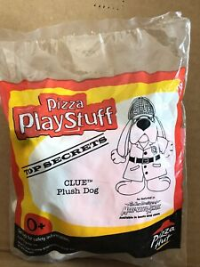 Pizza Hut Kids Toy, Pizza Play Stuff Clue Plush Dog Toy