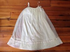 "Vintage Nightie Nightgown A-Line Lacey Double Layer Baby Doll Negligee 37"" Chest"