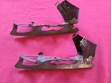 Antique Vintage Ice Skates Barney & Berry Springfield Mass. Leather Is Brittle.