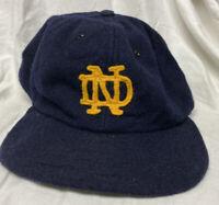 Vintage 60s 70s Notre Dame 100% Wool Hat New Era Football Baseball