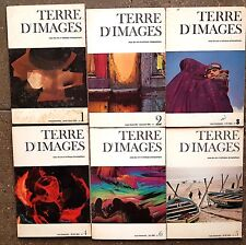 TERRE D IMAGES lot 6 premiers numéros. Revues des arts et techniques photographi