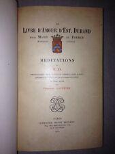 Le Livre d'Amour d'Est. Durand pour Marie de Fourcy, marquise d'Effiat.1907