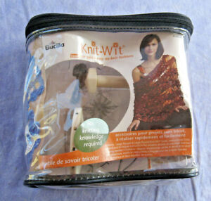 New Bucilla Knit-Wit Loom For Quick & Easy No Knit Fashions DVD Makes Rosettes