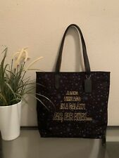 NWTCoach X F88038 Star Wars TOTE Bag Canvas Black Starry And Scroll Print $298