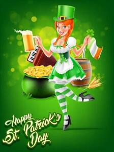 St.Patricks Day poster template vector