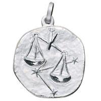 Sternzeichen Waage - Anhänger aus 925 Echt Silber Sterlingsilber, Halsschmuck