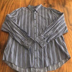 Men's Bugatchi Uomo Long Sleeve Button Up Shirt Size XL