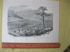 Vintage Print,MAKING UP RAFTS,Scene on Erie Railroad,#2,Occupations