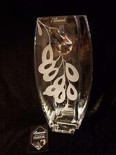 Vase + Elegant + Swarovski Crystal & Sandblasted present Gift