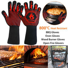 BBQ Grill Gloves Barbecue Heat Resistant Mitts Smoking Cooking Kitchen New