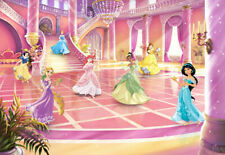 Girly Bedroom Wallpaper Wall Mural Photomural Disney Princess Party 144x100inch