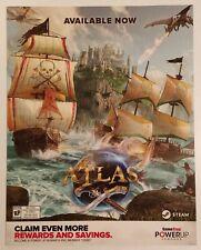 Atlas Promo Gamestop Poster. Rare.