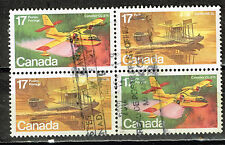 Canada Aviation stamps block 1970