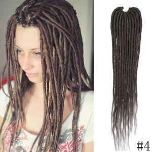 20 inch Thin Faux Locs Dreadlocks Synthetic Crochet Twist Braids Hair Extensions